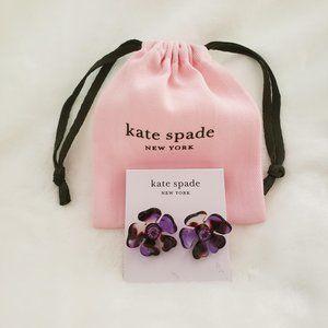 Kate Spade Purple Petal Pushers Earrings NWT